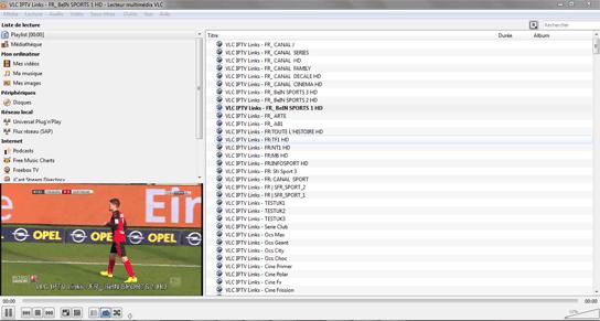 Titta på kanaler på VLC